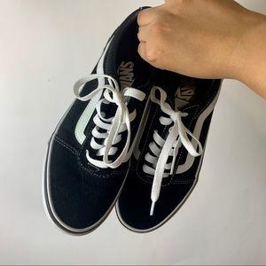 vans old skool black sneakers 👟